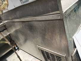 Steel fridge with counter top