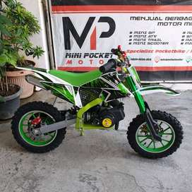 Minimoto Cross Trail Mini Motor Kecil 50cc 2T Matic Bensin Campur