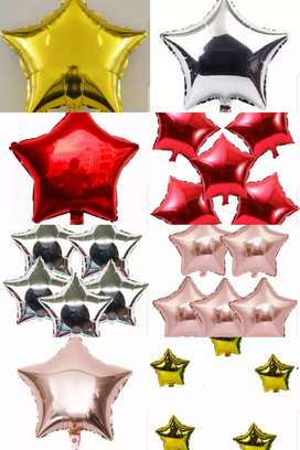 Star and heart foil balloons