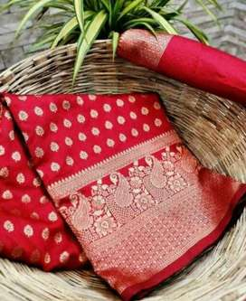 WOMEN COTTON SILK SAAREE | FREE DELIVERY AND COD AVAILABLE