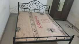 5×6.5 feet IRON BED with ply,  NEW condition,  5 months Old.