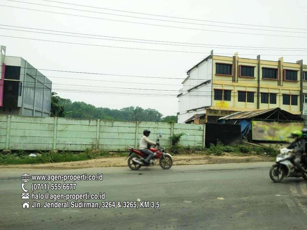 dijual tanah 5000 m2 plus 4 unit ruko jln palembang betung km 16