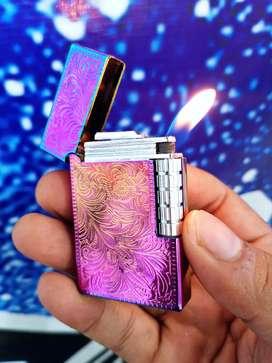 Korek api ST.DUPONT rainbow motif ukir batik