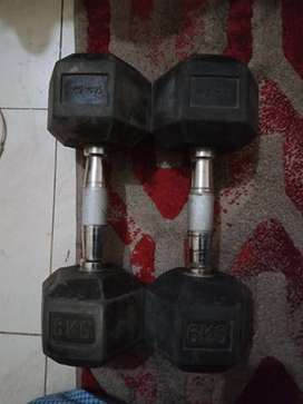 Used Dumbells 6kg Pair
