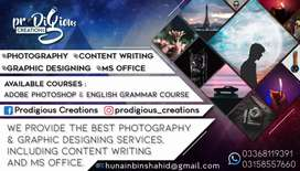 Photography and Graphic Designing Services