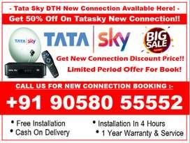 Limited Offer! Tata Sky HD 50% Off Tatasky, Airtel, Dishtv, SD/HD Book