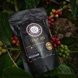 Bubuk kopi robusta Asli Liwa Lampung Barat 100% kopi tanpa campuran.
