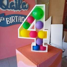 Angka ultah 3D styrofoam