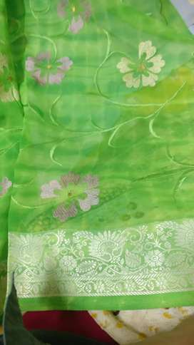 Fresh green saree