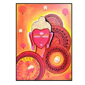 Buddha canvas painting handmade