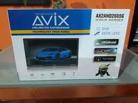hari ini saja head unit AVIX ANDROID 2GB ada tv luar dan dalam negeri