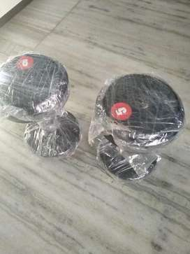 Gym dumbbell in Rubber and high quality