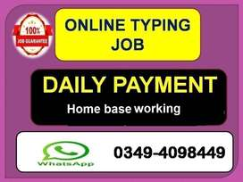 100% legit   providing work  by ONLINE TYPING JOB