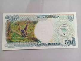 Barang Antik Uang Kertas Gambar Monyet Tahun 1991 .