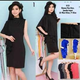 Dress Import Bahan Tebal BKK