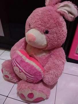 Boneka Kelinci Love lucu