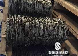 Jual Kawat Duri Galvanis High Carbon (HiCa) 100 meter