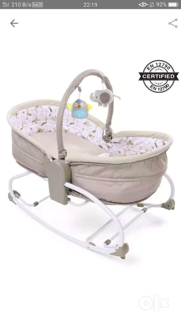 babyhug opal baby rocker-sleeper-bassinet 0