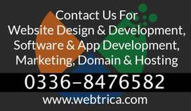 Static , dynamic , Ecommerce web development smm, sms and Seo