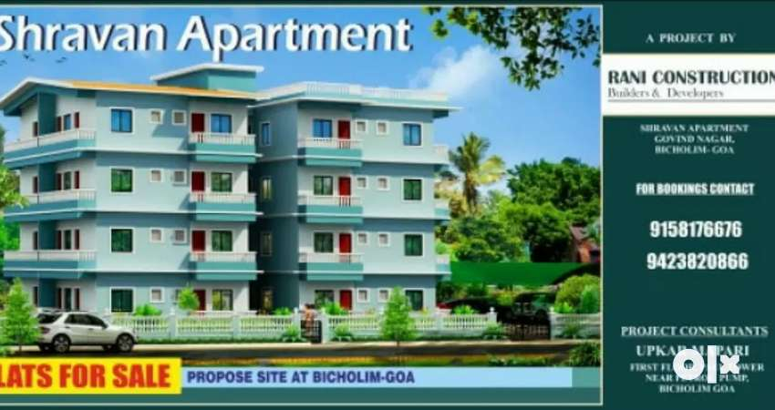 Flats for sale at govind nagar bicholim 0