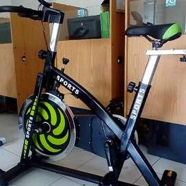sepeda statis spinning bike hijau besar neew segel jual murah