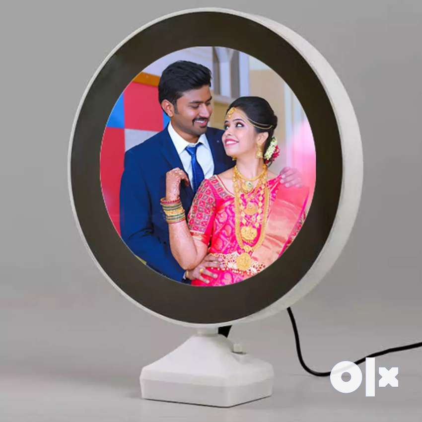 Magic Photo Frame & Mirror with USB Cable & LED with printing