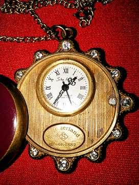 JUAL Jam Saku antik SWISS terbuat 1882 mekanik otomatis berlian