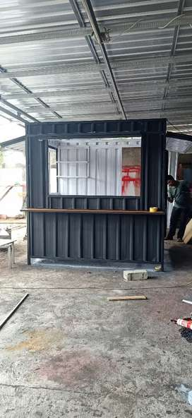 Container booth