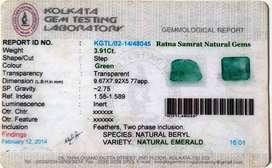 Natural Emerald 3.91 Ct (Panna)