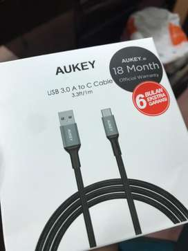 Jual Aukey Cable 1M Braided USB 3.0 to USB C