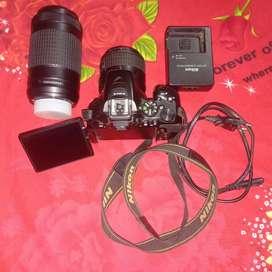 Nikon D 56 with 70-300 less