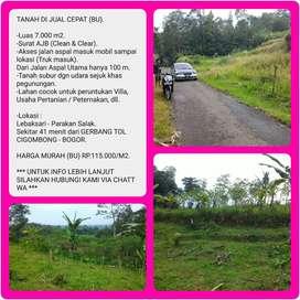 Dijual Cepat (Butuh Uang) Tanah Dengan Luas 7002m2