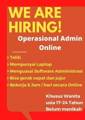 Dicari Admin | Kerja Online| Punya Laptop