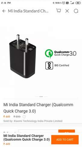 Mi 18w fast charger Qualcomm quick charge 3.0