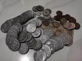 Uang kuno koin sen berbagai nominal