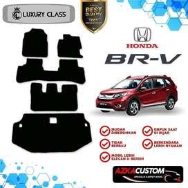 Karpet Mobil Honda BRV Baris 1 2 3 + Bagasi Bahan 1 Warna -Karpet Mie