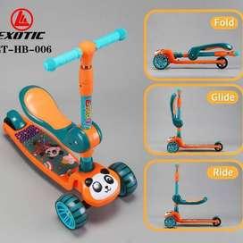 Skuter/scooter/Otoped anak roda tiga bay exotic ET-HB-006 - Hijau ID93