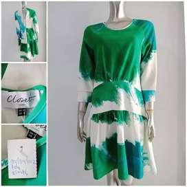 Dress wanita elastis