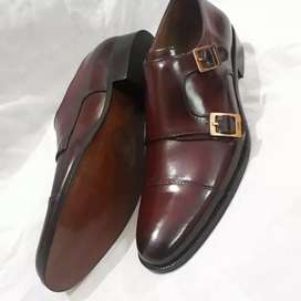 pumN real leather hand made formal shoes for men