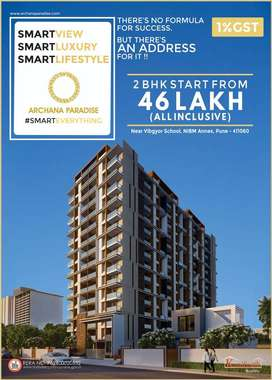 New Launch -2 BHK flat for sale in NIBM at 46 Lac only