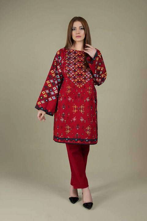 WHOLESALE 2 PIECE LAWN DRESS KY RED 0