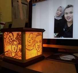 Lampu benang siluet