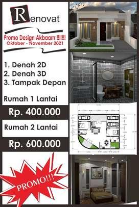 Gebyarrrrr Promooo Super Design Rumah Murah Meriah II RENOVAT