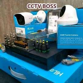 Lengkap dengan infrared kamera cctv hilook pul set
