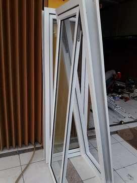 Jendela kusen alumunium alexindo komplit unit uk 150cm x 50cm