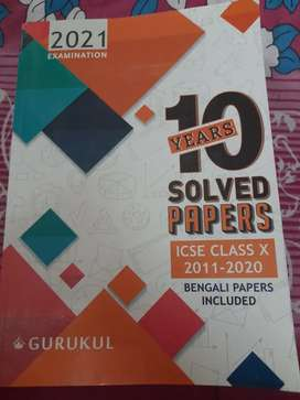 ICSE class 10 solved papers from 2011 to 2020