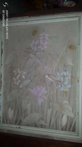 Lukisan kanvas panjang 100cm lebar 80 cm