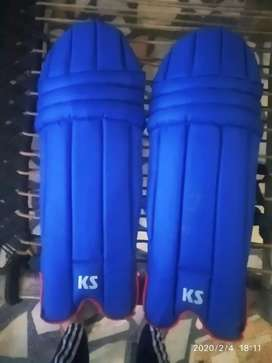 Cricket batting pads  blue in colour    selling because have new one