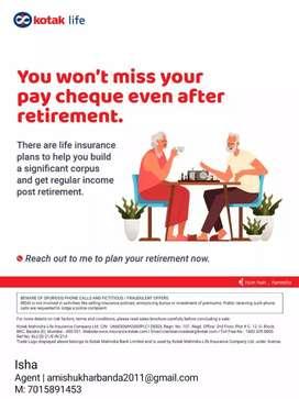 Life insurance k liye sampark karein.