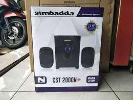 Freeantar spiker speaker aktif bluetooth simbadda cst 2000n+ ngebass